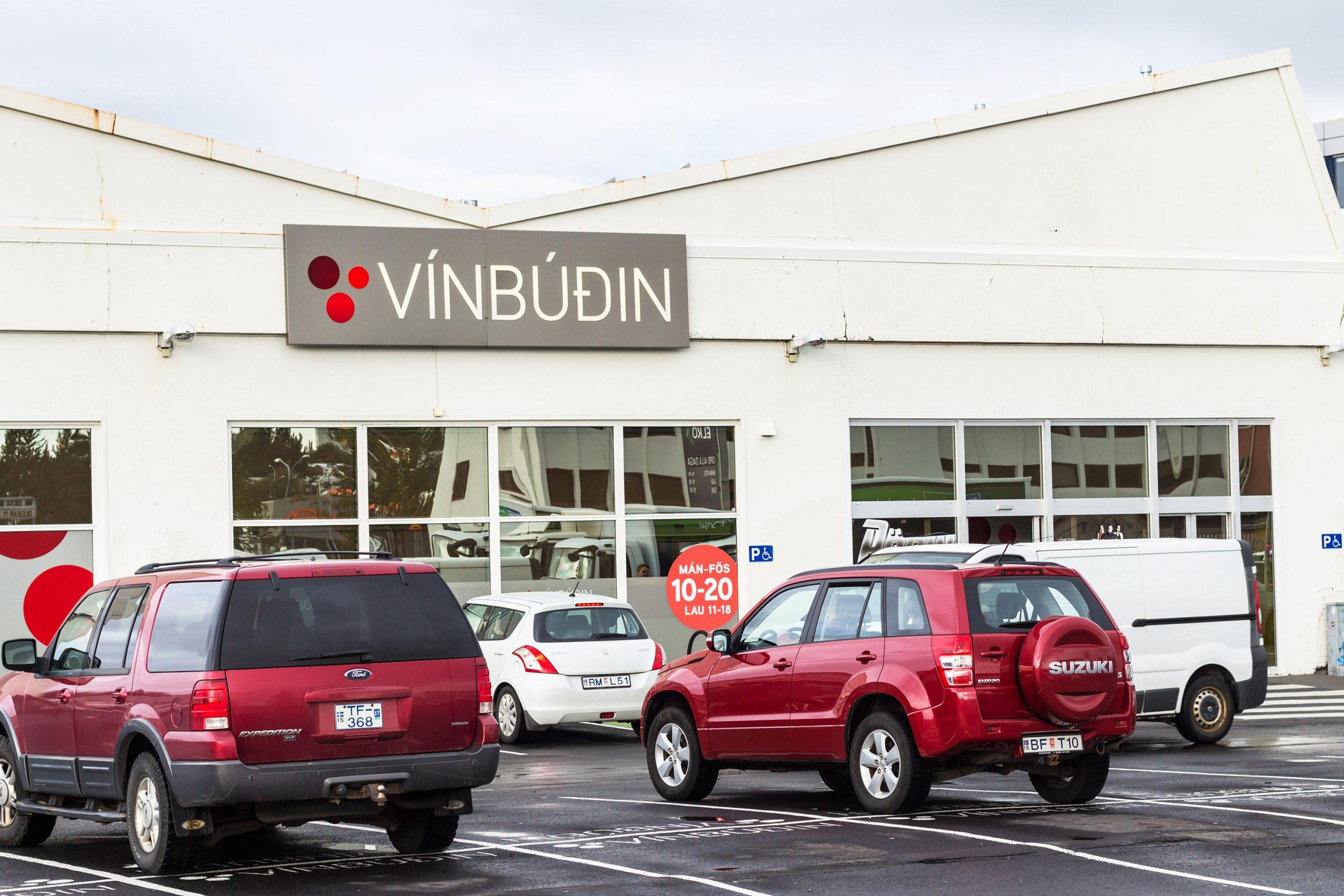 vinbudin Island Reykjavik alkohol butikk vin sprit