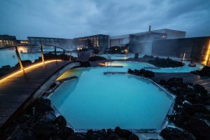 bla lagune Island bade bygning spa billetter