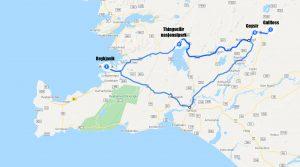 kart reiserute Golden Circle Reykjavik Thingvellir Gullfoss Geysir Stokkur