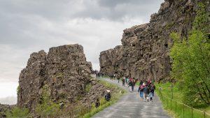 tektoniske plater Thingvellir nasjonalpark Island Reykjavik